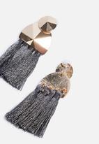 Superbalist - Tassel earrings - grey & gold