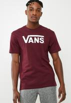 Vans - Classic tee - burgundy & white