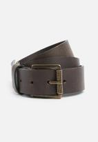 Superbalist - Vernon leather belt with contrast stitch - brown