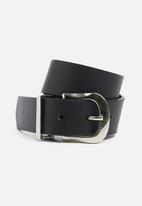 Superbalist - Nazley hip leather belt - black