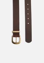 Superbalist - Nazley hip leather belt - brown