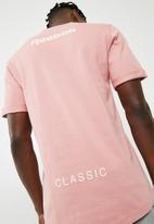 Reebok - Cap sleeve longline tee -  pink