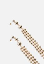 Missguided - Ball drop earrings - gold