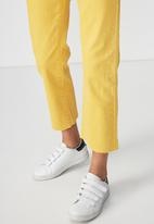 Cotton On - Mid rise straight crop stretch jean - yellow