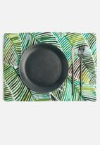 Grey Gardens - Leaves placemat set of 2 - green