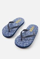 Cotton On - Printed flip flops - blue