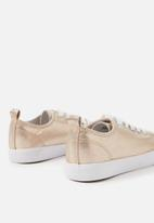 Cotton On - Metallic classic trainers - gold