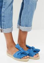 Espadril - Espadrille Knot Slide - blue