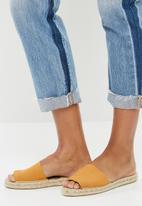 Espadril - Espadrille slide - mustard