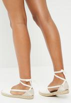 Espadril - Espadrille multi lace up cross - white