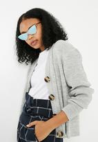 Missguided - Madison beer cat eye sunglasses - silver