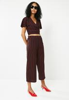 Superbalist - Wide leg knit culotte - black & red