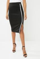 Superbalist - Bodycon skirt with contrast stripe - black