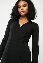 Superbalist - Formal playsuit with button detail - black