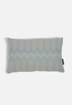 Present Time - Stitched flow cushion - grey