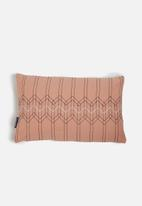 Present Time - Stitched flow cushion - pink