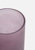 Present Time - Gold glamour vase - glass matte purple