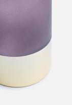 Present Time - Gold glamour vase - glass matte purple