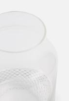 Present Time - Gem vase - glass clear