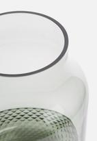Present Time - Gem vase - glass grayed jade