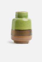 Present Time - Unique vase - ceramic small green