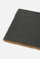 Present Time - Welcome door mat - multi black coir