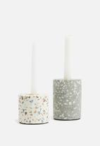 Present Time - Terrazzo candle holder - multi