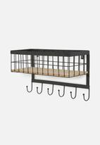 Present Time - Hanging kitchen basket - black
