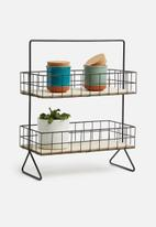 Present Time - Standing kitchen rack - black