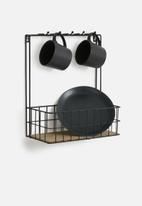 Present Time - Kitchen rack - black