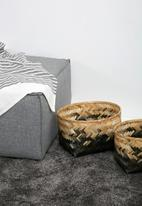 Sixth Floor - Ombre basket set - grey