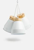 Sixth Floor - Cluster pendant - white/wood