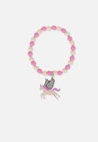 Cotton On - Glitter charm bracelet - pink & white