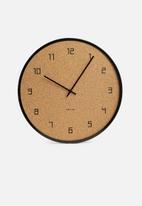 Present Time - Modest wall clock - black