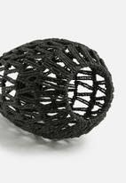 Present Time - Paper rope pendant lamp - black