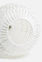 Present Time - Paper rope pendant lamp - white