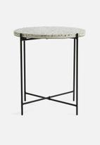 Present Time - Terrazzo side table - black