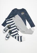Cotton On - Kids Lewis track pants - navy & white