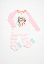 Cotton On - Kids Heidi raglan pj - pink & blue