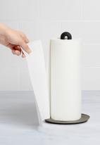Umbra - Key hole paper towel holder - black & silver