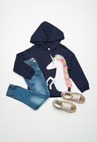 Cotton On - Kids Scarlett fleece hoodie - navy