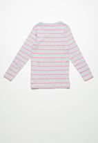 Cotton On - Kids Jessie crew top - grey & pink