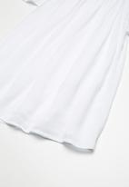 MINOTI - Kids girls woven capre dress - white