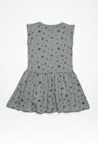 MINOTI - Kids girls AOP fleece dress - grey