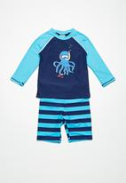 MINOTI - Kids boys octopus rash set - navy