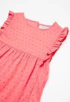 MINOTI - Kids girls woven smock top - pink