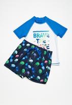 MINOTI - Kids boys AOP jelly fish swim shorts - multi