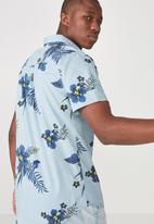 Cotton On - Vintage prep short sleeve shirt - blue