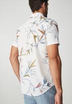 Cotton On - Vintage prep short sleeve shirt - white