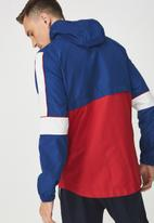 Cotton On - Retro spray zip through jacket - blue & red